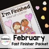 Valentine Math and Literacy Printables- No Prep!