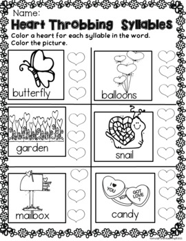 Valentine Math and Literacy for Early Learners