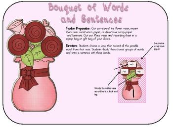 Valentine Math and Word Work Game Kit
