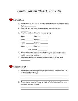 Valentine Math and Writing Activities