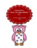 Valentine Math-the-Room Addition K-1 - FREEBIE