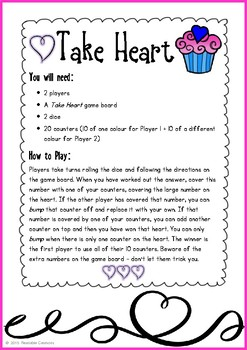 Valentine Maths Bump Games (1-3 Freebie) {BrE Version}