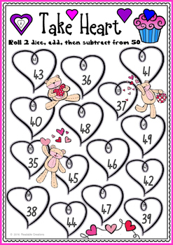 Valentine Maths Bump Games {BrE Version}