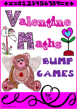Valentine Maths Bump Games for Australian Teachers