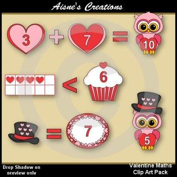 Valentine Maths Clip Art Pack