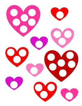 Valentine Mats for Daubers/Magnetic Chips (open-ended)