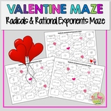 Valentine Maze Radicals and Rational Exponents