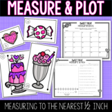 Valentine Measure and Plot - Measuring to the Nearest Half Inch and Line Plot