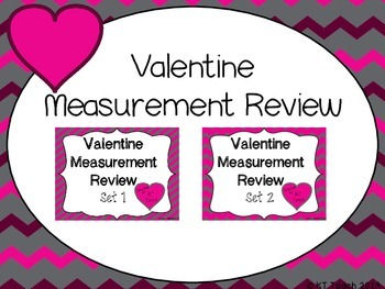 Valentine Measurement Review Task Cards (1st Grade Common Core)