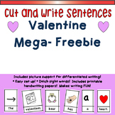 Valentine Mega-Freebie:  Cut and Write Sentences!