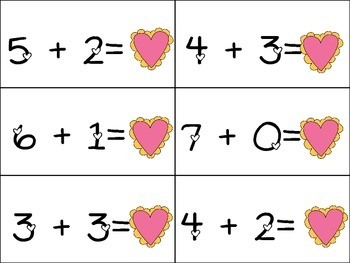 Valentine Memory Game- Equivalent Math Facts