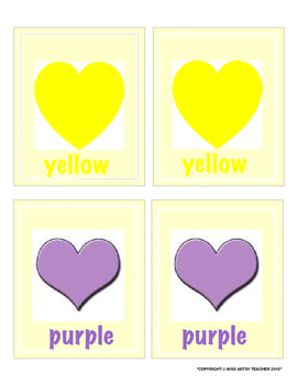 Valentine's Day Memory Match: Colours