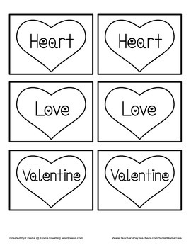 Valentine Memory Words