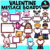 Valentine Message Boards Clip Art Bundle {Educlips Clipart}