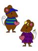 Valentine Mice Clip Art