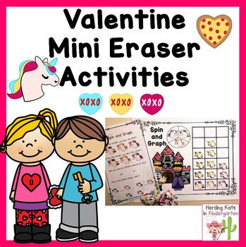Valentine Mini Eraser Activities