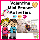 Valentine Mini Eraser Activities