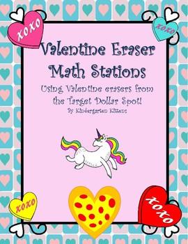 Valentine Mini Eraser Math Stations
