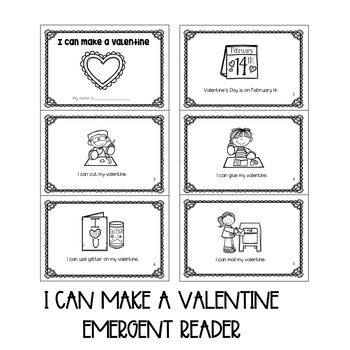Valentine Emergent Reader, Crown and Read and Color Pages