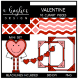 Valentine Mini Clipart Bundle {A Hughes Design}
