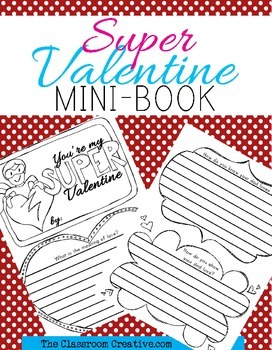 Valentine's Day Writing Activity and Parent Gift {Superher
