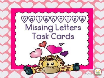 Valentine Missing Letter Task Cards