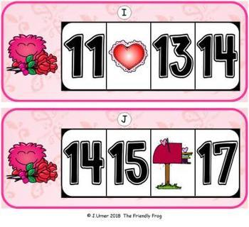 Valentine Missing Numbers 0-20