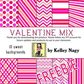 Valentine Mix Digital Papers - FREEBIE