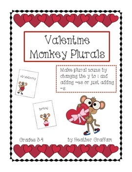 Valentine Monkey Plurals (Grades 3-4)
