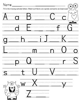 Valentine Monster Alphabet Match