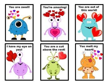 Valentine Monster Cards