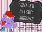 Valentine Monster Categories