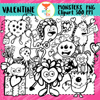 Valentine Monster Clipart