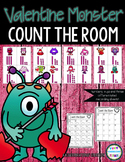 Valentine Monster Math Count the Room