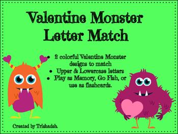 Valentine Monster Letter Match