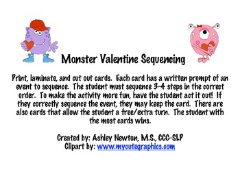 Valentine Monster Sequencing