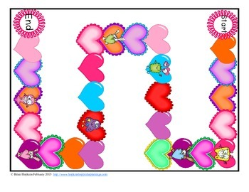 Valentine Monster Sight Word Games