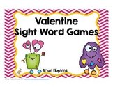 Valentine Monster Sight Word Games