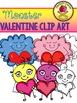 Valentine Monsters Clip Art