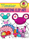 Valentine Monsters Clip Art