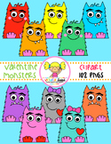 Valentine Monsters Clipart