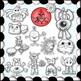 Valentine Monsters Clipart {Paez Art Design}
