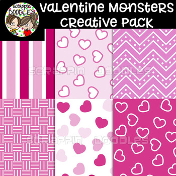 Valentine Monsters Creative Pack {51 graphic bundle}