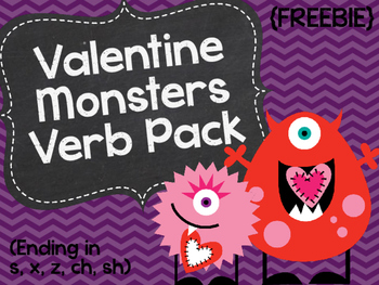 Valentine Monsters Verb Pack {FREEBIE}