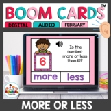 Valentine More or Less Than 10 Boom Cards