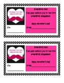 Valentine Moustache Homework Pass