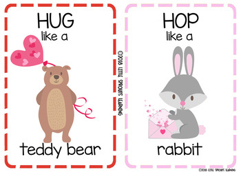 Valentine's Day Movement Cards