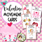 Valentine's Day Movement Cards - Brain Breaks (Transition