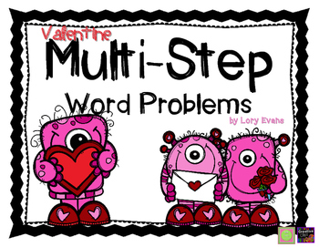 Valentine Multi-Step Word Problem Review