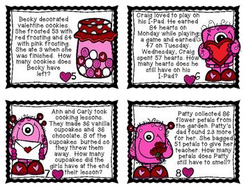 Valentine Multi-Step Word Problem Review